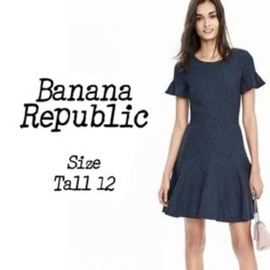 Banana Republic Striped Dress SZ 12 Tall